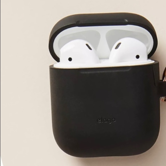 AirPod case with black elago case cover